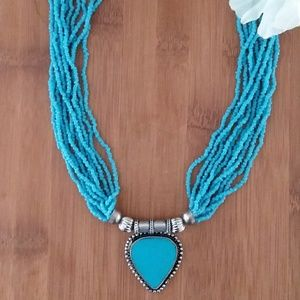 1PC Beautiful Authentic African Beaded Neckla